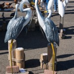 Carved Egrets