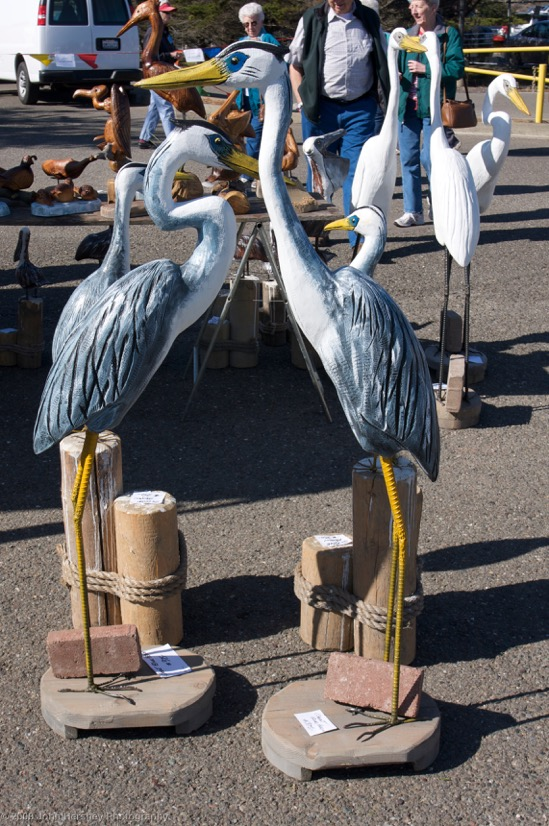 Carved Egrets