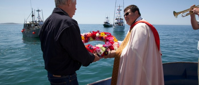 Priest with wreath